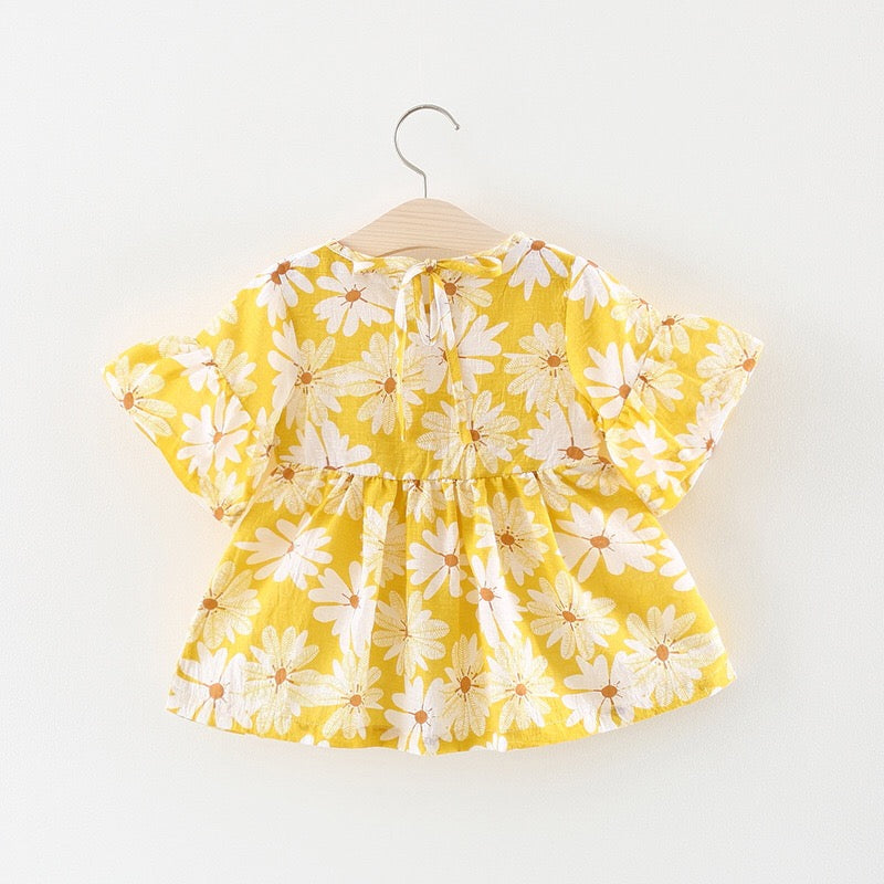 Sunflower Summer Dress for Baby Girls