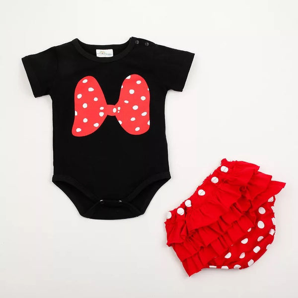 Minnie Romper Bloomer Set