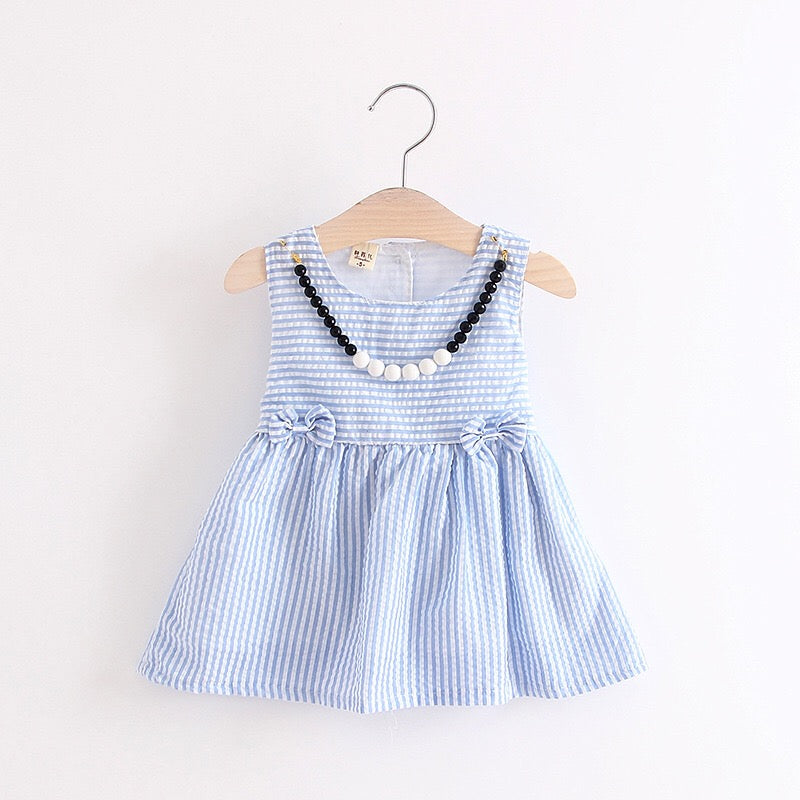 Striped Bow Summer Dress