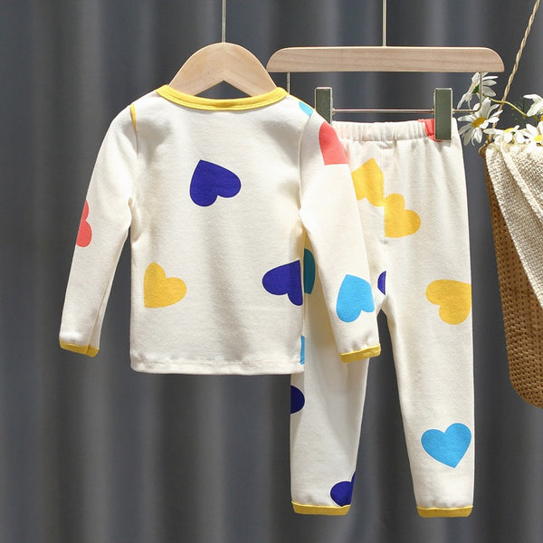Heart Printed Night Suit