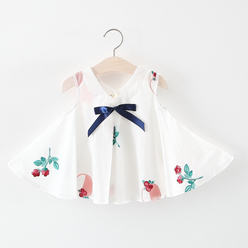 Flower Embroidered Summer Dress