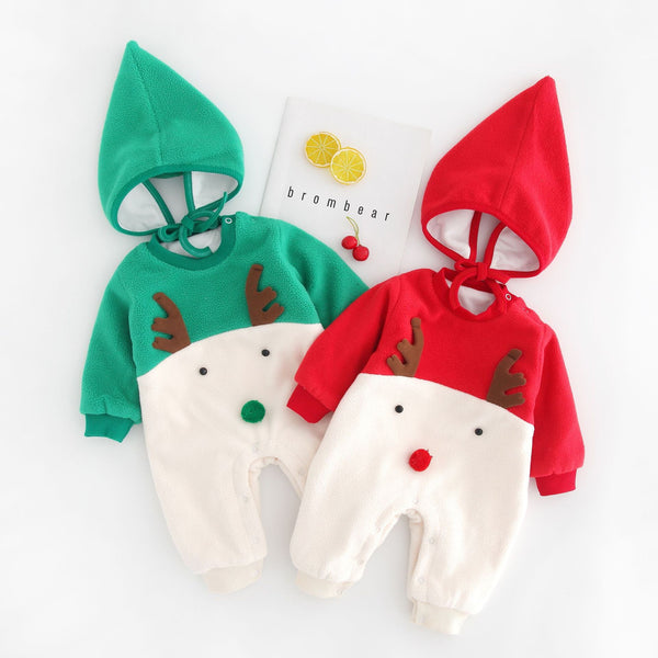 Reindeer Made Winter Jumpsuit With Cap