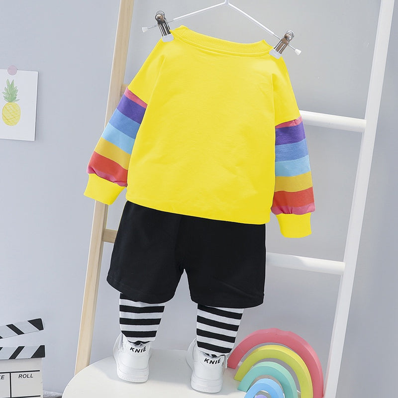 Rainbow Sweatshirt Set
