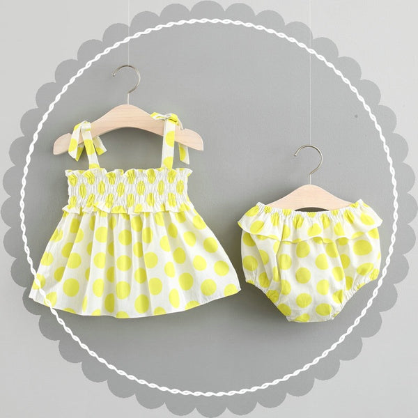 Polka Dots Bloomer Set With Hairband