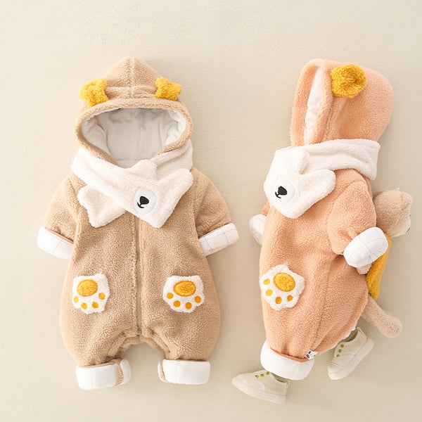 Teddy Bear Back Winter Jumpsuit