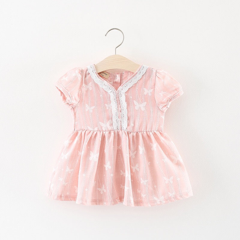 Butterfly Embroidered Baby Girl Dress