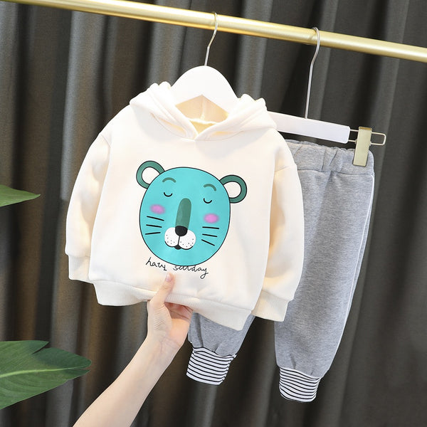 Lion Sweatshirt and joggers winter set
