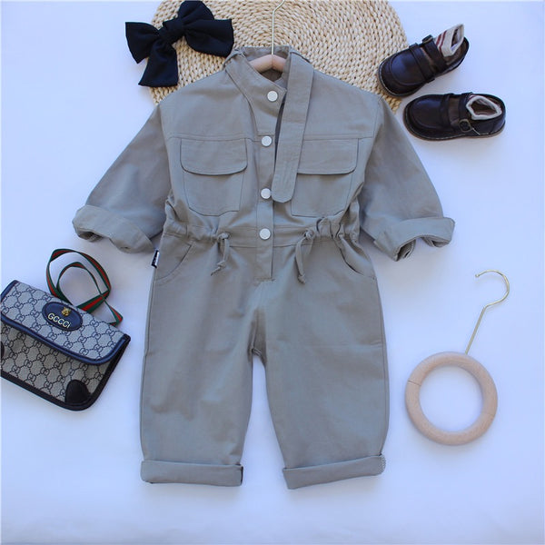 Buttoned Belted Jumpsuit