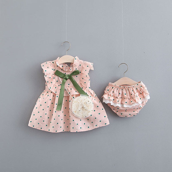 Polka Dot Ruffles Bloomer Set