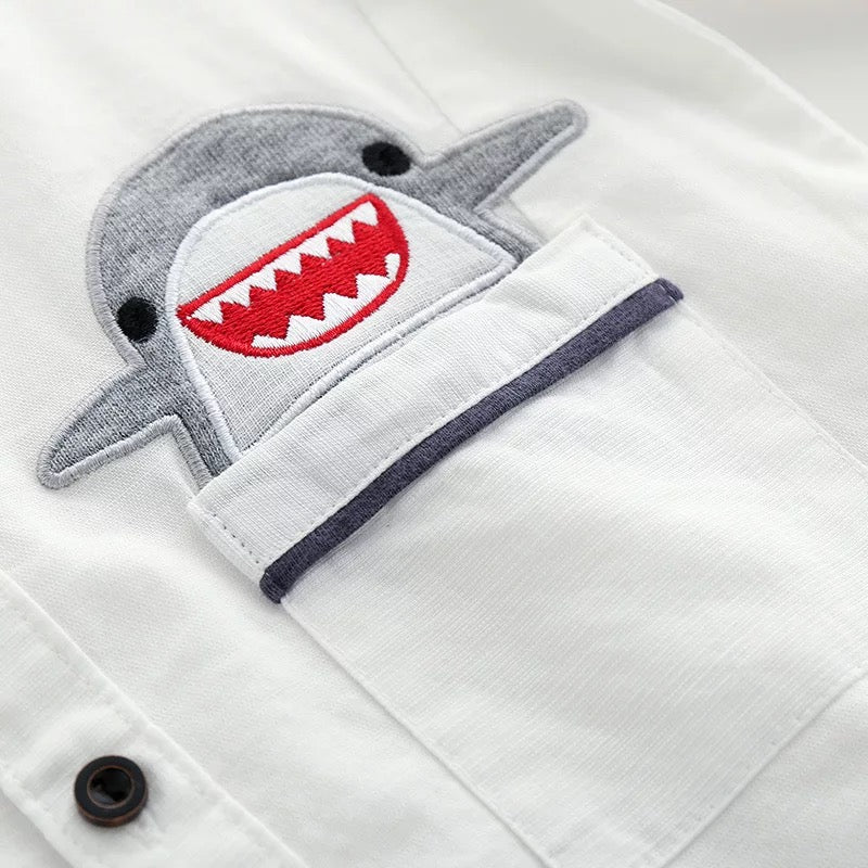 Shark Made Low Pocket Shirt