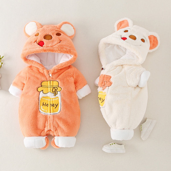 Honey Bear Winter Jumpsuits