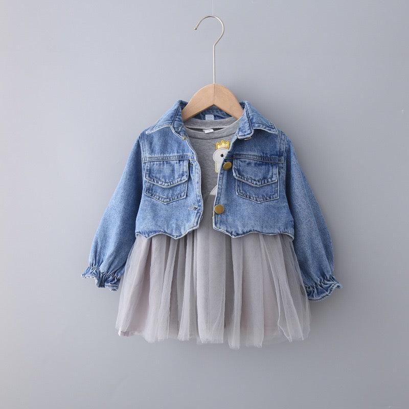 Swan Made Denim Jacket And Dress