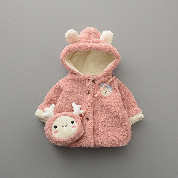 Rabbit Hooded Jacket With Sling Bag