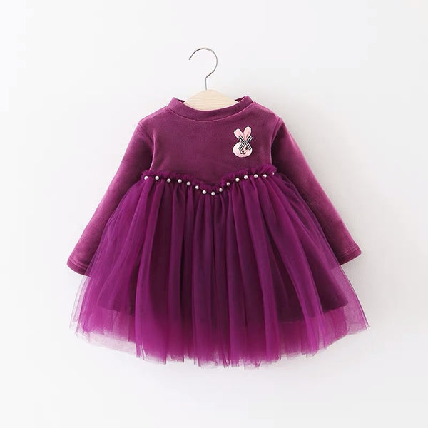 Pearl Velvet Winter Dress