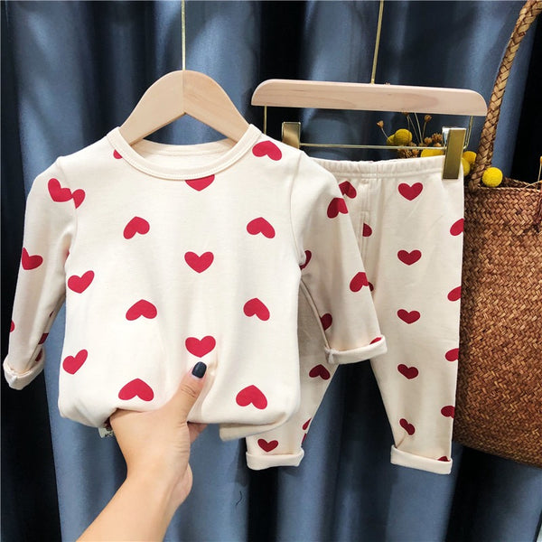 Duck and heart printed night suit