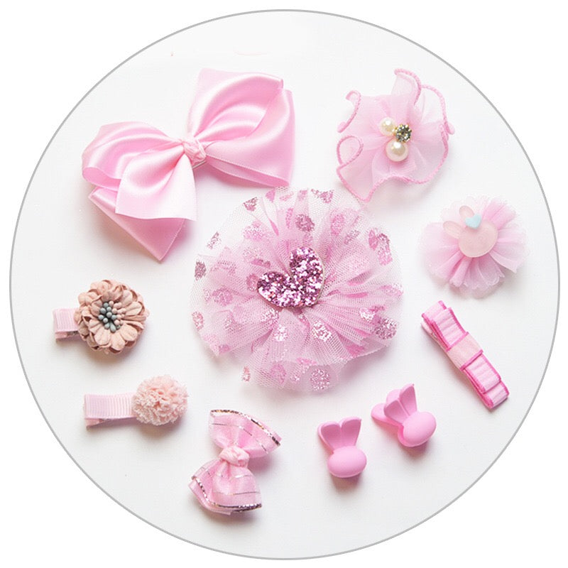 Baby Girls Hairpins Set Of 10