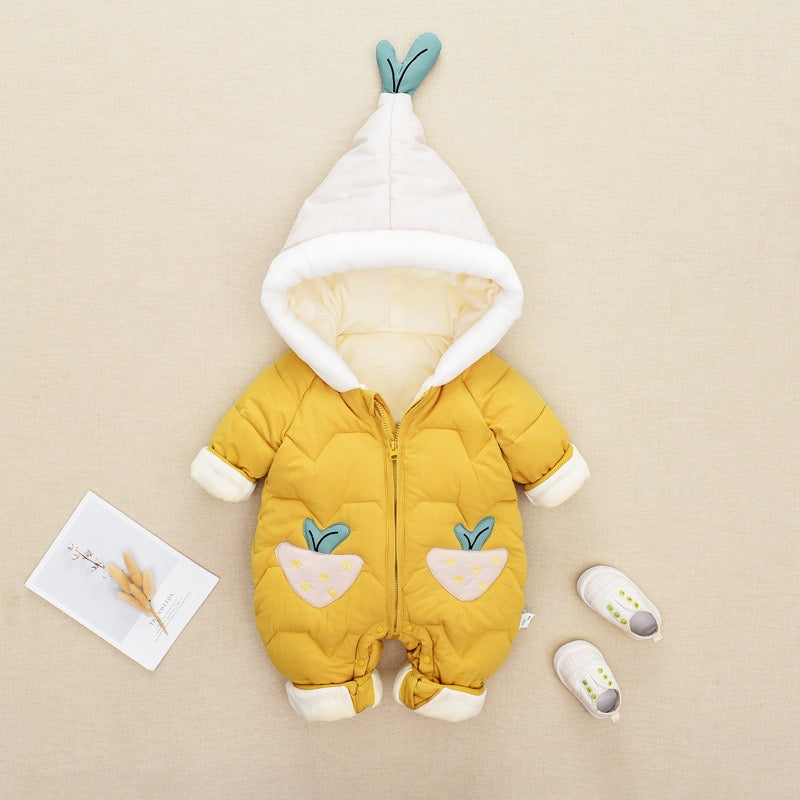 Carrot Pocket Padded Winter Jumpsuit