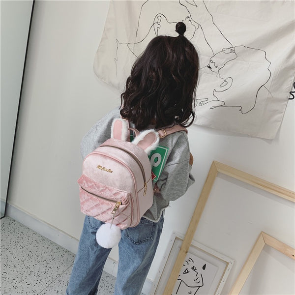Rabbit Ear Velvet Baby Bag