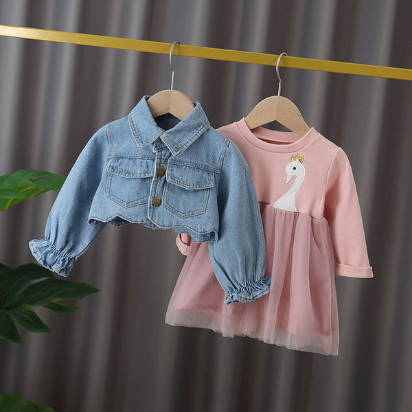 Swan Made Denim jacket dress