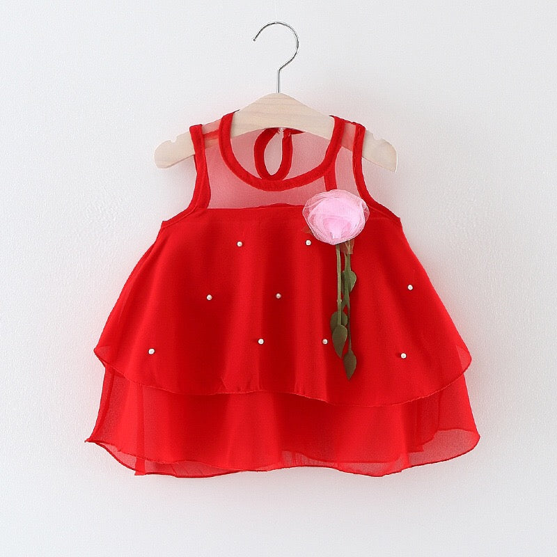Flower Sequin Baby Girl Dress