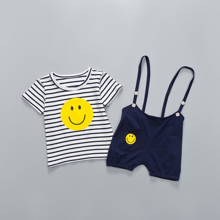 Smiley Suspenders Set