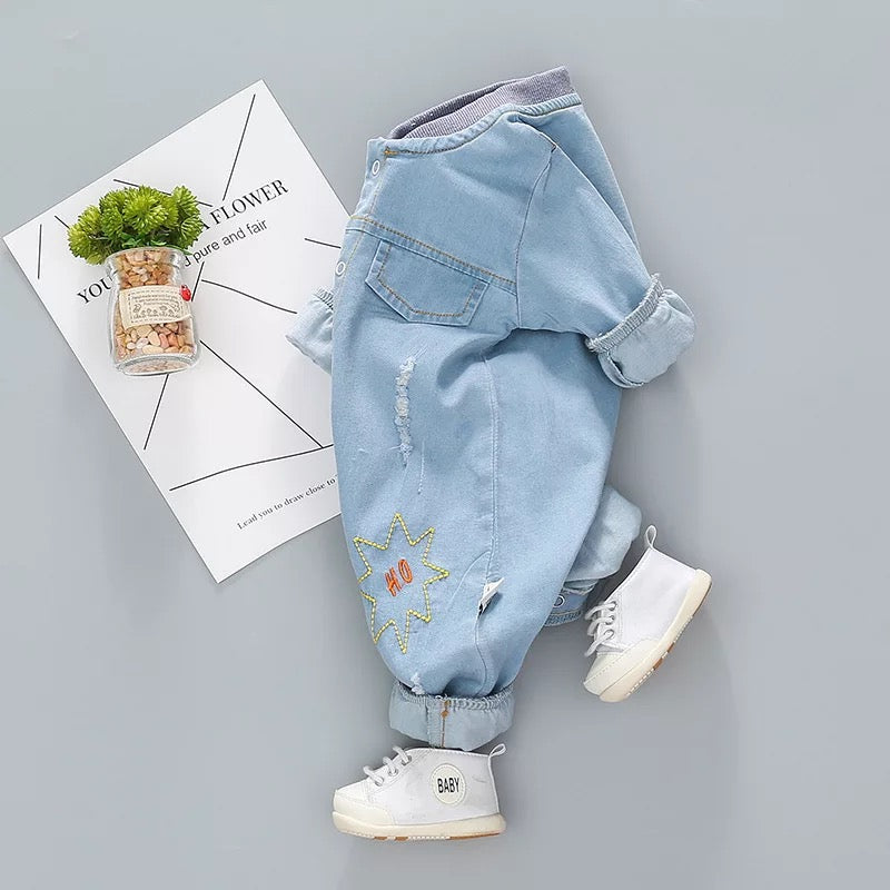 Rugged Animal Denim Jumpsuit