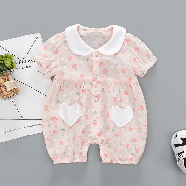 Heart Shaped Doll Collar Romper