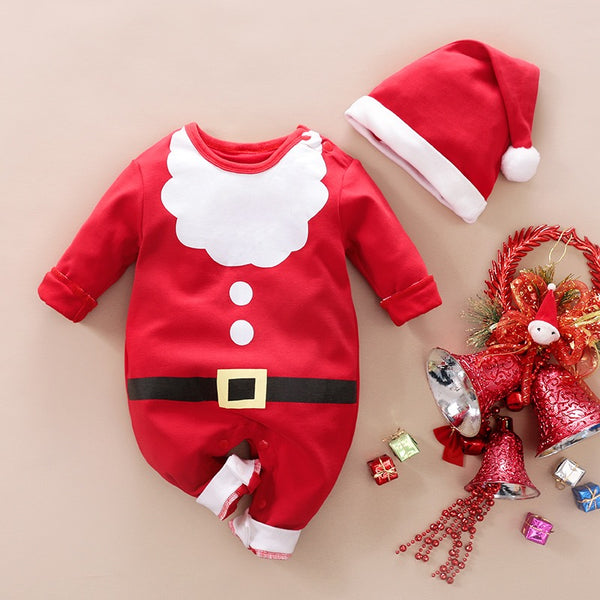 Christmas Jumpsuit With Cap