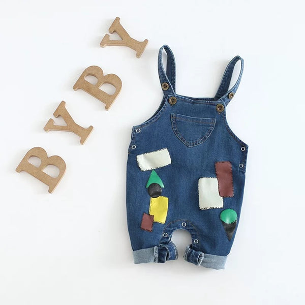Patch Denim Dungaree