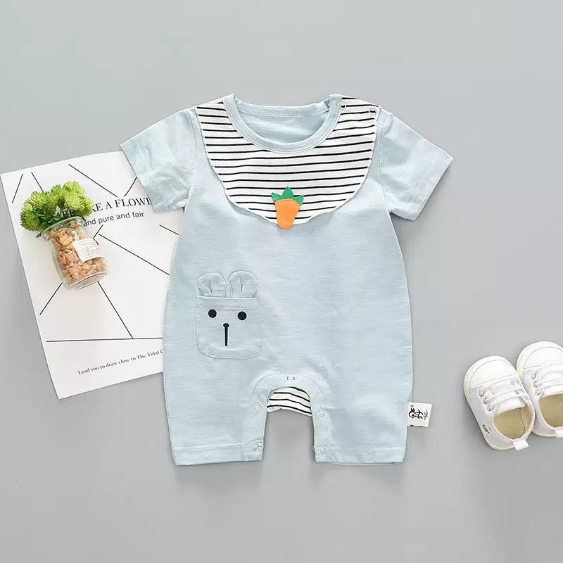 Rabbit Pocket Carrot Summer Bodysuit