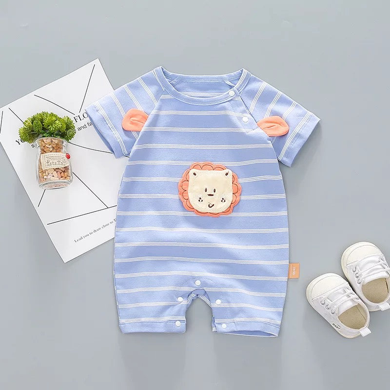 Striped Lion Made Summer Bodysuit