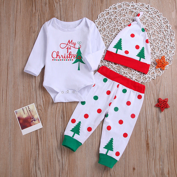 Tree Printed Christmas Set