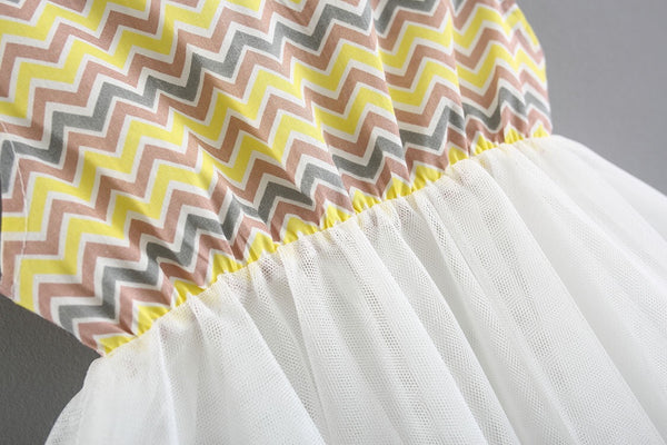 Zigzag Sundress For Baby Girls