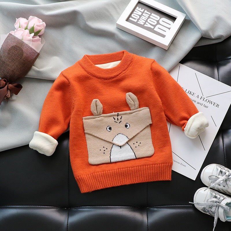 Fox Baby Sweater