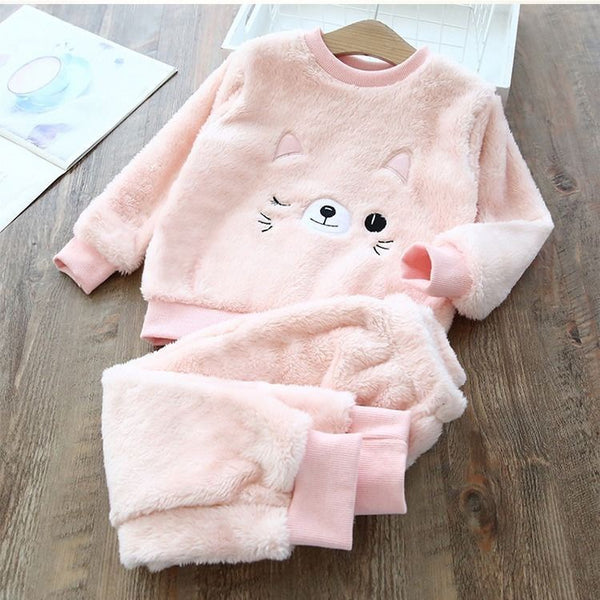 Cat Made Sweatshirt And Joggers Winter Set