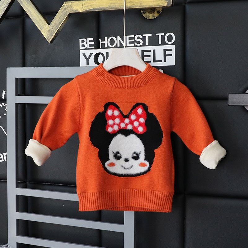 Minnie Mouse Baby Sweater