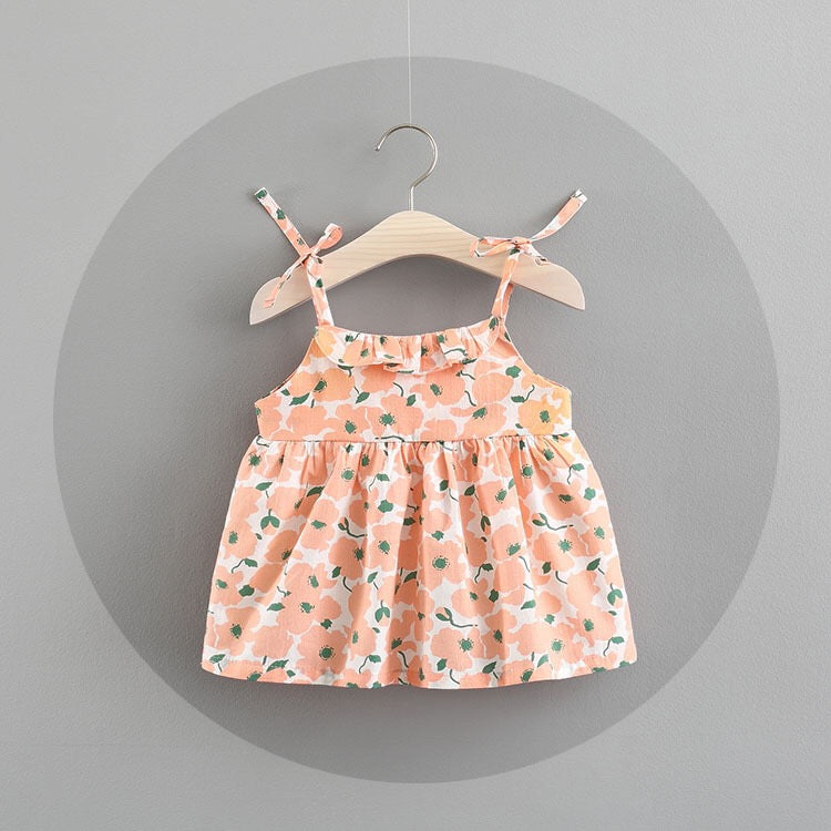 Floral Strap Sundress For Baby Girls
