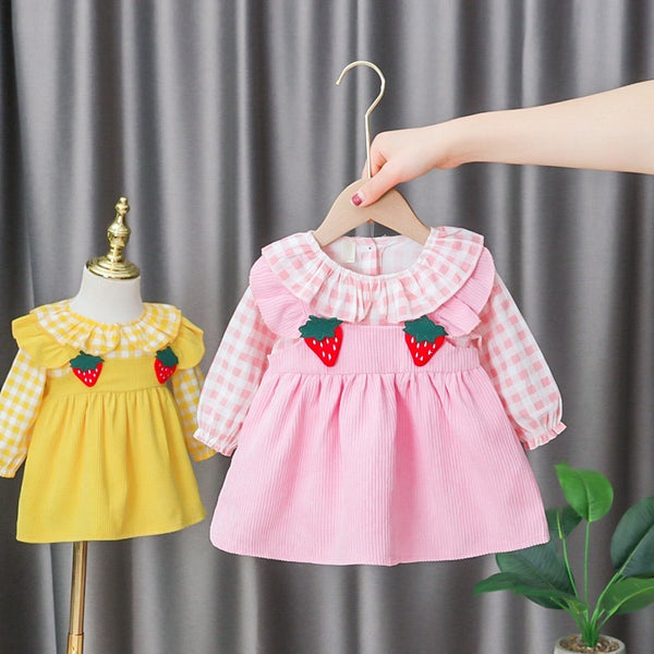 Strawberry Made Plaided Dress