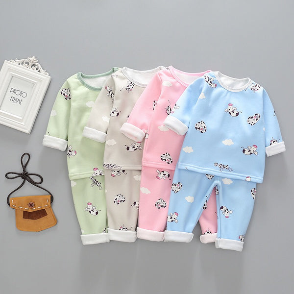 Moo Cow Printed Night Suit