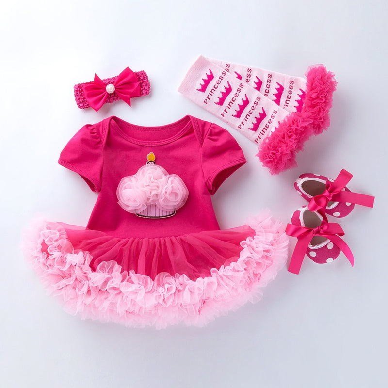 Minnie Birthday  Dress With Leggings And Shoes