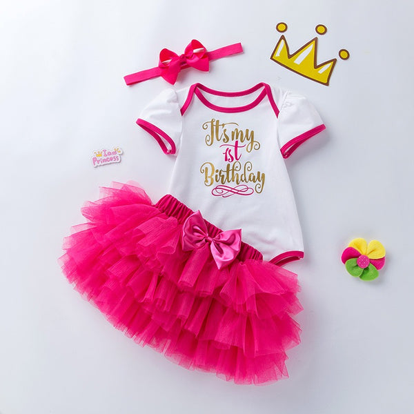 Birthday Tutu Dress With Headband