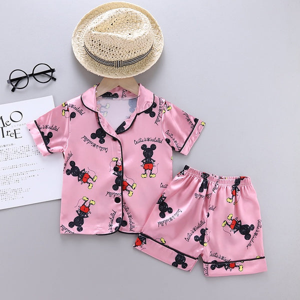 Mickey Mouse Printed Night Suit