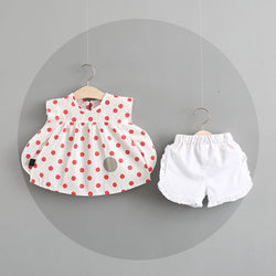 Polka Dotted Summer Shorts For Baby Girls