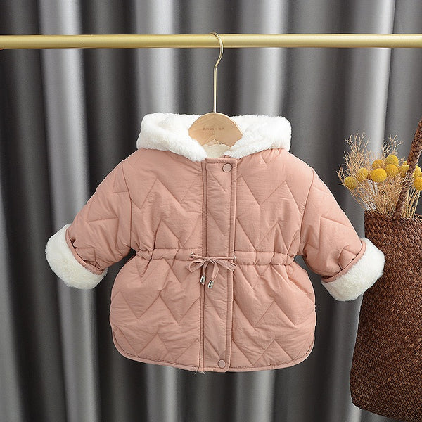 Knotted zigzag padded winter jacket