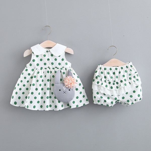 Polka Dot Animal Collar Bloomer Set