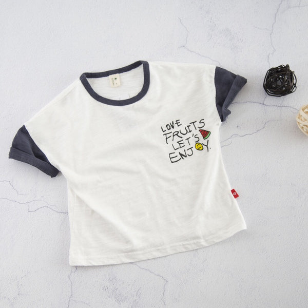 Love Fruits Round Neck Baby Tshirts