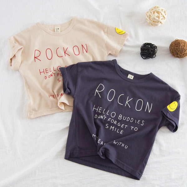 Rock On Round Neck Baby Tshirts