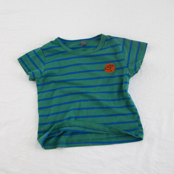 Striped Round Neck Baby Tshirts