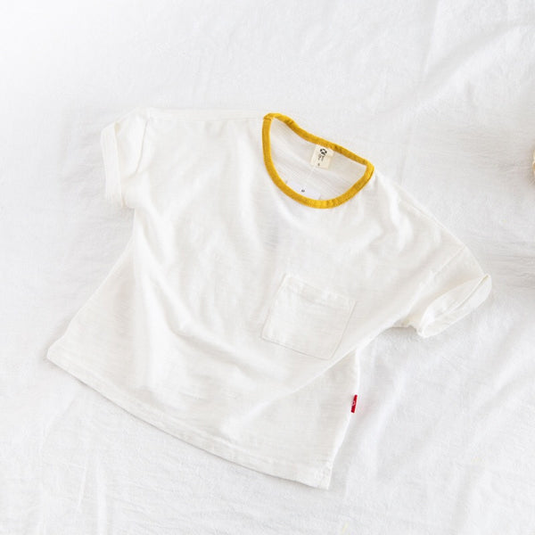 Pocket Crew Neck Baby Tshirts