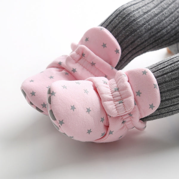 Star Printed Baby Boots
